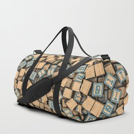 Binary blocks Duffle Bag