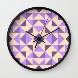 PURPLE AZTEC GEOMETRY Wall Clock