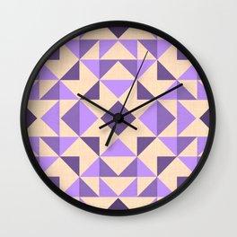 PURPLE AZTEC GEOMETRY Wall Clock