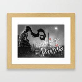 Paris at Midnight Framed Art Print