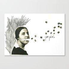 palabras inventadas Canvas Print