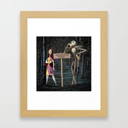Halloween Town | Jack | Sally | Christmas | Nightmare Framed Art Print