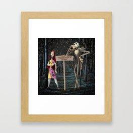 Halloween Town   Jack   Sally   Christmas   Nightmare Framed Art Print