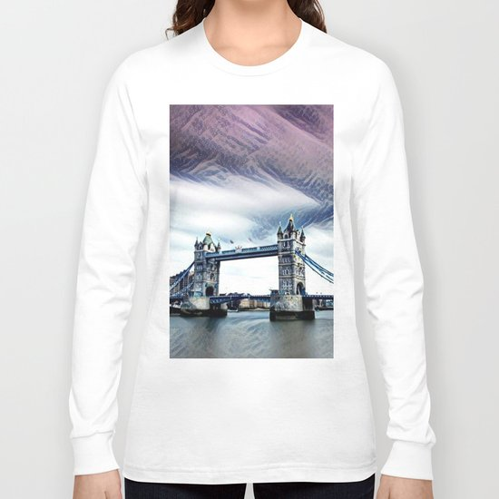 The Glorious London Bridge (Sunset & River) Long Sleeve T-shirt