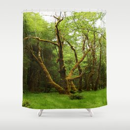 A Moos Laden Tree Shower Curtain