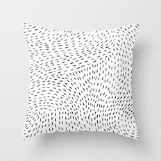 storm | white Throw Pillow
