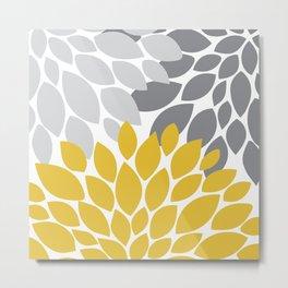 petals grey and yellow Metal Print