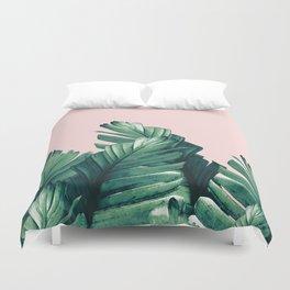 Blush Banana Leaves Dream #3 #tropical #decor #art #society6 Duvet Cover