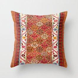 Garahgozloo Hamadan West Persian Long Rug Print Throw Pillow