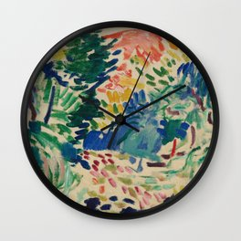 Landscape at Collioure - Henri Matisse - Exhibition Poster Wall Clock