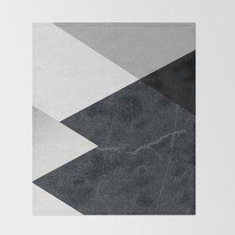 Geometrics - marble & silver Throw Blanket
