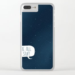 Star Stuff (Science Fiction Wrapping Paper No. 2) Clear iPhone Case