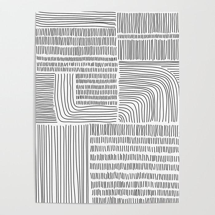 Digital Stitches whole white Poster