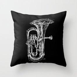 Euphonium Throw Pillow