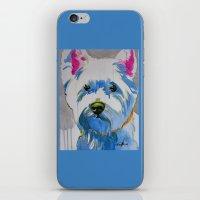 westie iPhone & iPod Skins featuring Westie Pop Art Dog Art Portrait  by Karren Garces Pet Art