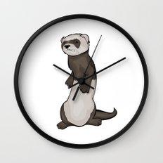 Wild Ferret Wall Clock