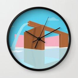Fuente de los amantes - Luis Barragán Wall Clock