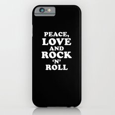 Peace, Love and Rock 'n' Roll Slim Case iPhone 6s