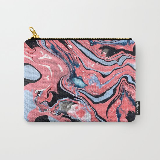 Pink and blue marble Carry-All Pouch