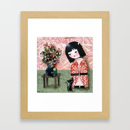 Kokeshi Framed Art Print