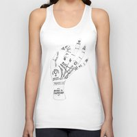 palm Tank Tops featuring Palm Reading by Cat Coquillette