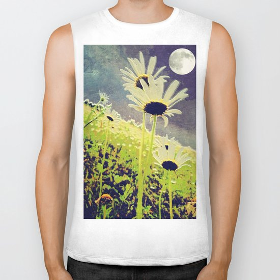 As the Daisies Greet the Evening Sky Biker Tank