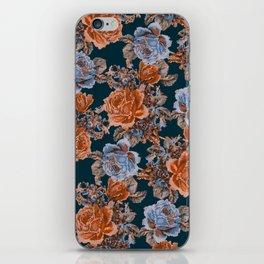 English Garden - Burnt Sienna/Navy iPhone Skin
