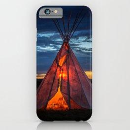 Southwestern Teepee Sunset iPhone Case