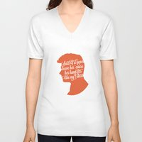 liam payne V-neck T-shirts featuring Liam Payne Silhouette   by Holly Ent