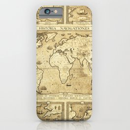 Vintage map of the World iPhone Case