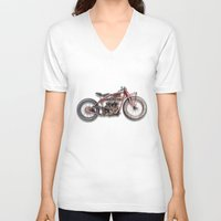 indian V-neck T-shirts featuring Indian by The Junkers