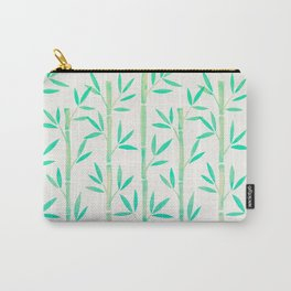 Bamboo Stems – Mint Palette Carry-All Pouch