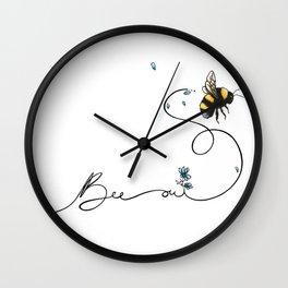 Bee oui! Wall Clock