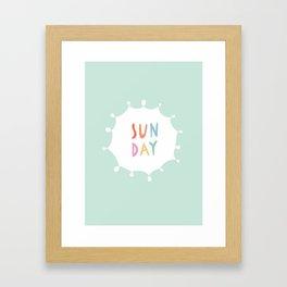 Sunday in Mint Framed Art Print
