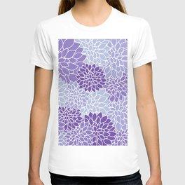 Ultra Violet Lavender Dahlias T-shirt