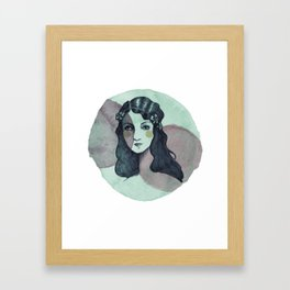 Vintage Girl Framed Art Print