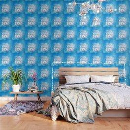 I Need Vitamin Sea Blue Wallpaper
