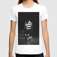 portland T-shirts featuring Portland BW by DarkMikeRys