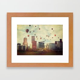 Portland Oregon Whimsy Framed Art Print