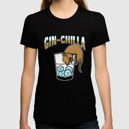 Gin Chilla Chinchilla thirst alcohol T-shirt