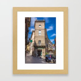 Pharmacy Tower Framed Art Print