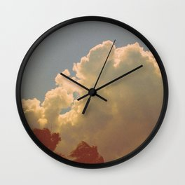 Palms & Clouds Wall Clock