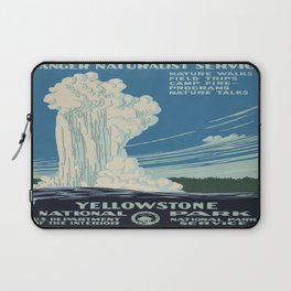 Vintage poster - Yellowstone Laptop Sleeve