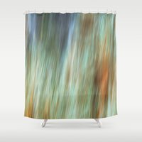flash Shower Curtains featuring Flash by Angela Fanton