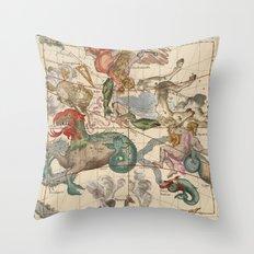 Constellations Andromeda, Pegasus, Cetus and Aries Throw Pillow