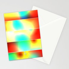 Color Heat (Five Panels Series) Stationery Cards