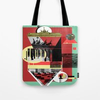berlin Tote Bags featuring Berlin. by Grant Pearce