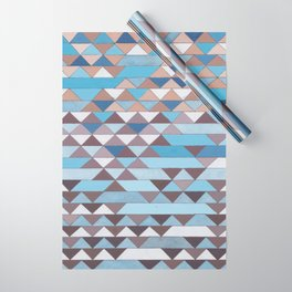 Triangle Pattern No.6 Crisp Blue Wrapping Paper