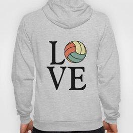 Volleyball Love - Vintage Sport Ball Design Hoody
