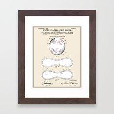 Baseball Patent Framed Art Print